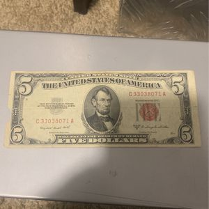 Red Stamp Five Dollar Bill 1953 for Sale in PA, US