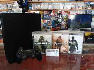 Ps3 playstation 3 with 3 games for Sale in Houston, TX