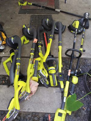 Weed eaters. Bush trimmer. Blower And a post saw for Sale in Austin, TX
