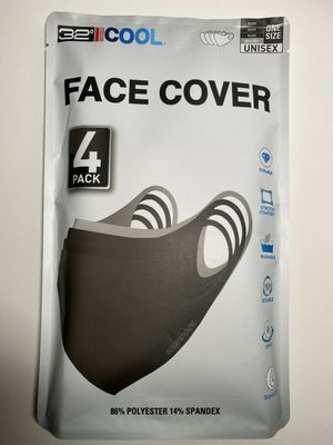 32 Degrees Cool Adult Unisex Face Cover 4-Pack for Sale in Hillside, NJ