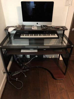 Glass top desk for Sale in West Los Angeles, CA