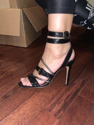 COACH Black Snake Print Heels for Sale in Haymarket, VA