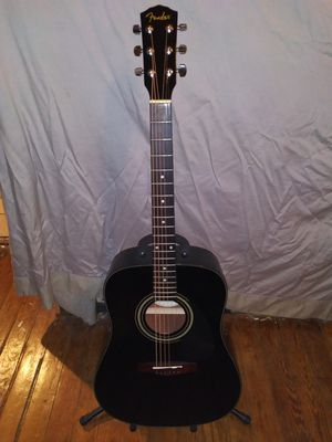 Fender DG-11E BLK acoustic/electric guitar with roadrunner padded gig bag and accessories for Sale in Denton, TX
