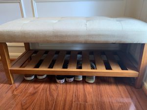 Brisson Bench with Shoe Rack for Sale in Kensington, MD
