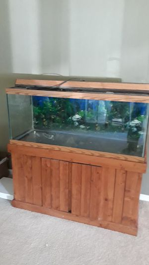 How much is a 100 gallon fish tank and stand for Sale in Norfolk, VA