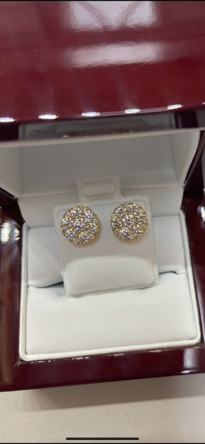 10k gold VVS quality REAL diamond earrings 1.55 ctw for Sale in Plano, TX