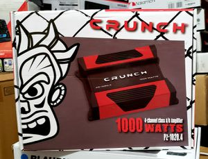 Crunch 1000w 4ch brand new for Sale in Phillips Ranch, CA