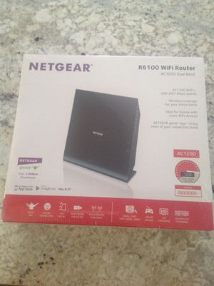Netgear r6100 dual band wireless router sealed for Sale in Los Angeles, CA
