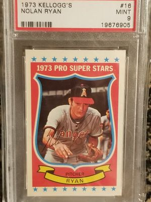 Nolan Ryan lot game worn, unique BGS oversized and one is PSA Mint drv investment trout gold sgc for Sale in Anaheim, CA