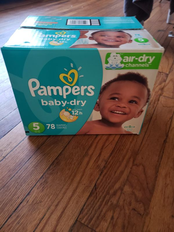 1 BOX DIAPERS PAMPERS BABY DRY SIZE 5
