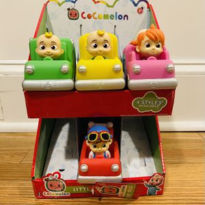 Cocomelon Cars JJ School Bus TomTom YoYo Ice Cream Fire Truck Lot 4 & Display for Sale in New Haven, CT
