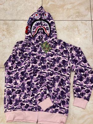 Light purple bape sweater M L XL for Sale in Glendale, CA