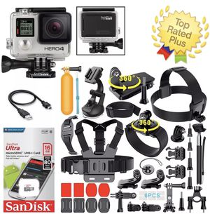 GoPro HERO4 Black Edition + 40pieces Sports Accessories Bundle for Sale in South Plainfield, NJ