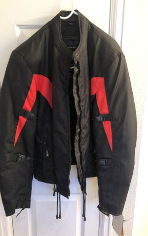 Men's XL black/red motorcycle jacket, brand new, tags still on. for Sale in Euless, TX