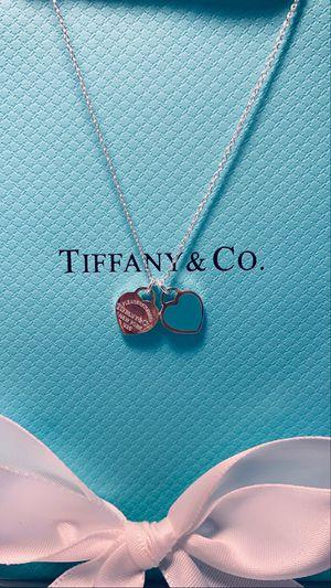 Tiffany and co. Mini double heart necklace for Sale in Santa Rosa, CA