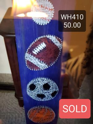Sports themed string art for Sale in Hillsborough, NC