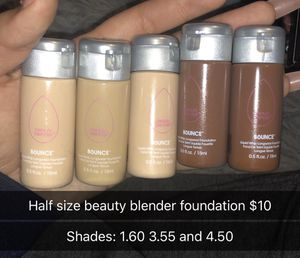 Half size beauty blender bounce foundations for Sale in Evanston, IL