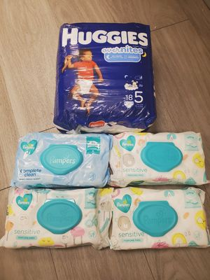 Size 5 Diapers & Wipes for Sale in Phoenix, AZ
