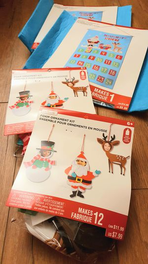 Christmas Advent Calendar and Ornaments Arts and Crafts Kits Lot for Sale in Sunnyvale, CA