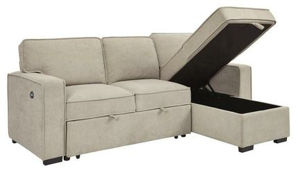 Darton Cream Sleeper Sectional with Storage for Sale in Round Rock,  TX