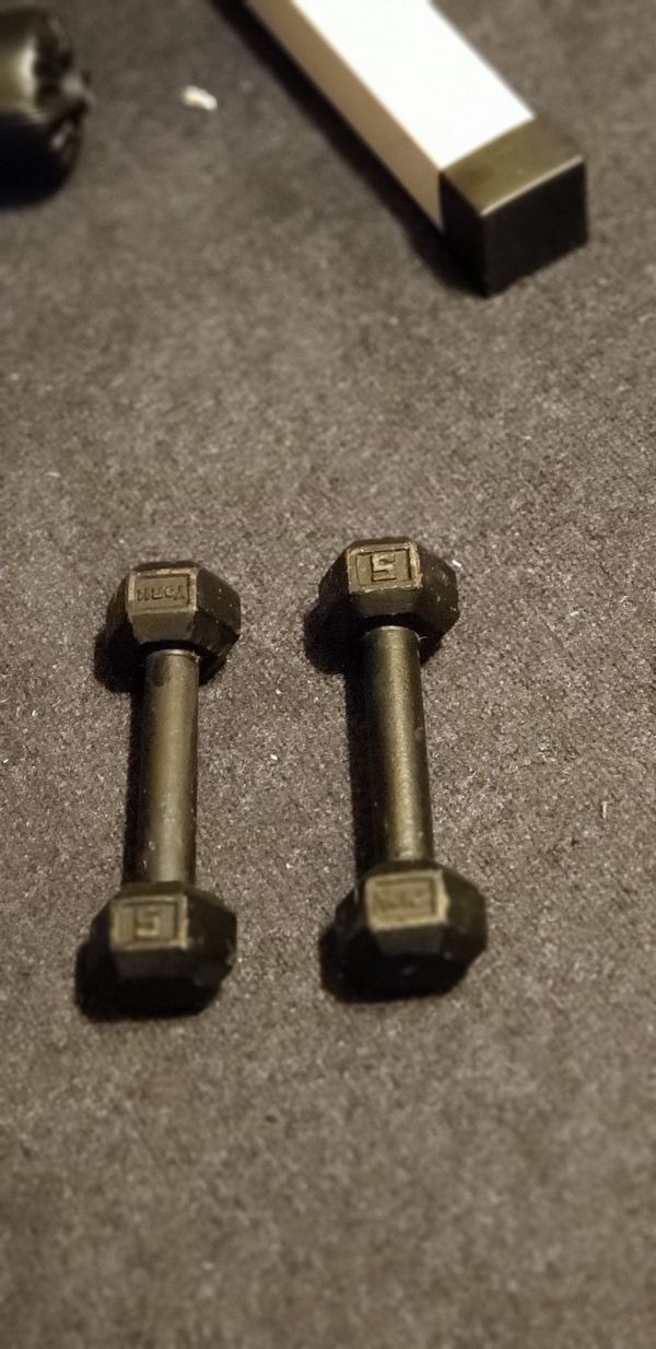 Hex Dumbbells | 5 Pound Set