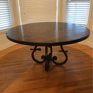 60 Inch Round Wood Table for Sale in Highlands Ranch, CO
