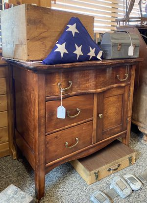 Antique Cabinet Coffee Bar for Sale in Hesperia, CA