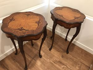 Antique inlay side tables for Sale in San Diego, CA