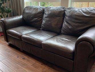 Brown Leather Sleeper Sofa for Sale in Renton,  WA