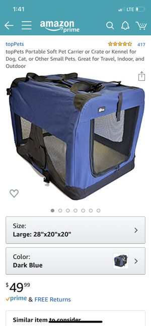 Large pet carrier for Sale in Boca Raton, FL