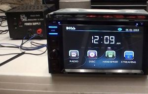 Sterio usb auxiliar Bluetooth radio cd dvd touch boss for Sale in Tucson, AZ