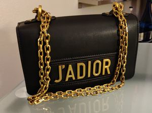 Dior J'adior Chain Flap Black Calfskin Leather Shoulder Bag for Sale in Peoria, AZ