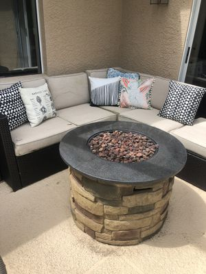 Outdoor wicker sectional couch NEGOTIABLE for Sale in Tampa, FL