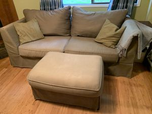 Free tan couch and ottoman for Sale in Portland, OR