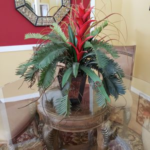 Tropical floral arrangement with red accent flowers for Sale in Land O Lakes, FL