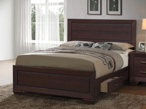 Queen storage bed dresser and mirror for Sale in Elgin, IL