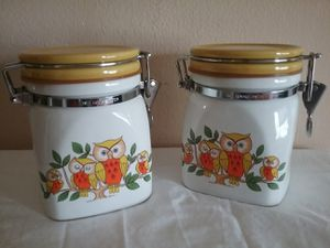 MCM owl storage containers for Sale in Dallas, TX