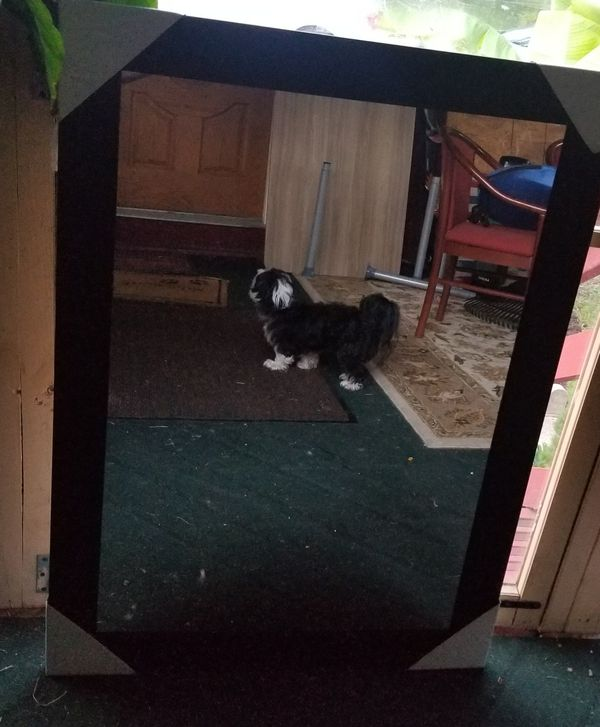 Black decorative mirror