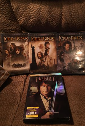 Lord of the rings /Hobbit DVD's for Sale in Rancho Cucamonga, CA
