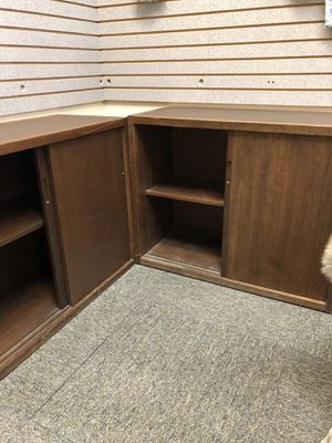 Brown 2 sliding door cabinets for Sale in Tempe, AZ