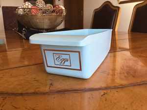 Vintage Refrigerator Egg Storage Bin Container GE Blue for Sale in Scottsdale, AZ