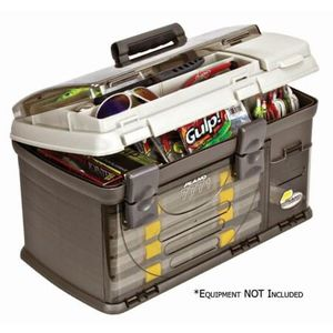 NEW-Plano Fishing Guide Series Five Utility Pro System Tackle Box, Graphite / Sandstone for Sale in Orland Park, IL