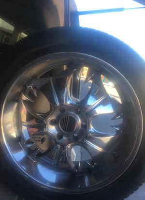 22in rims with tires for Sale in Las Vegas, NV