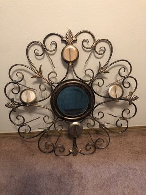 Mirror candle wall holder for Sale in Spanaway, WA