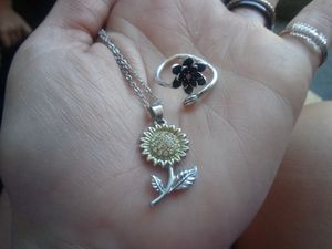 925 Stamped CubiC ZiRcoNia NeCkLaCe& Adjustable RiNg SeT for Sale in Bountiful, UT