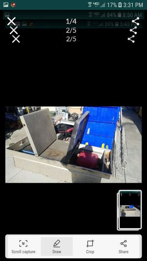 HugeTruck tool box farm storage box 74 x29 needs new locks for Sale in Tracy, CA