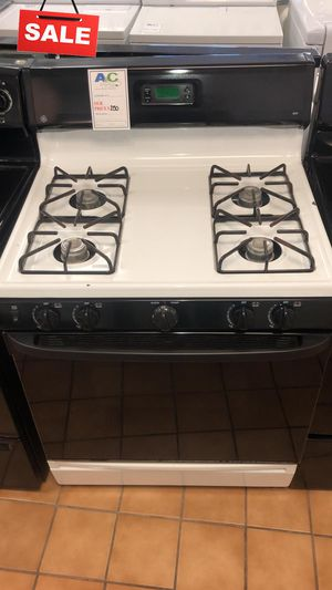 FIRST COME!!Black & White Gas Stove Oven GE CONTACT TODAY! #1531 for Sale in Aspen Hill, MD
