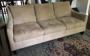 Tan Microsuede Couch for Sale in Issaquah, WA