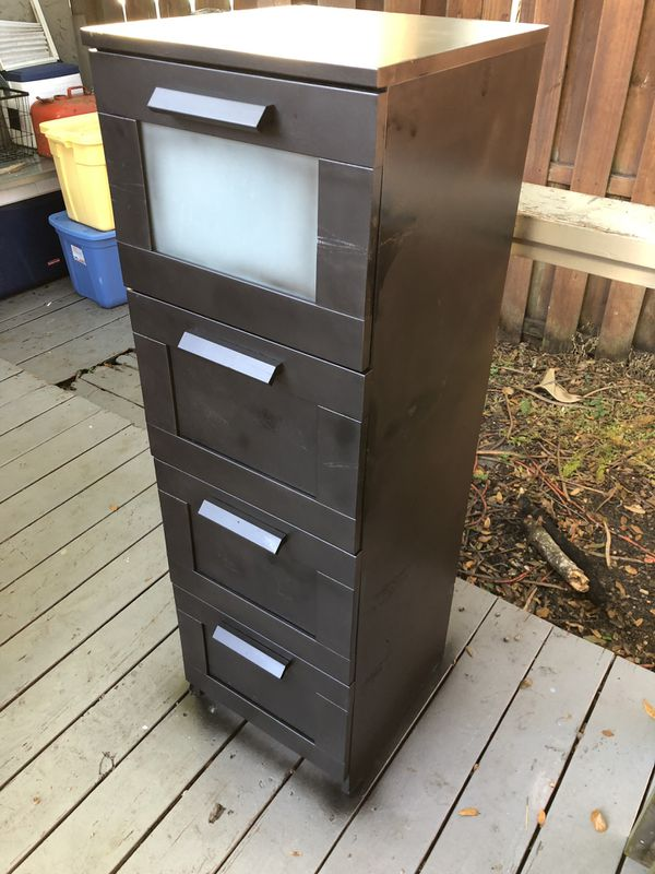 Black Tall Filing Cabinet
