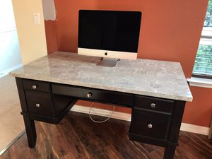 Brand New marble top desk with chair for Sale in Windermere, FL